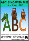 'ABC! Sing With Me!' ~ Lyrics PDF: The Alphabet Letters l