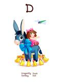 ♥ ABC  letter D. Classroom Poster Alphabet - Animals. Engl