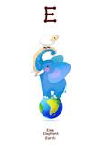 ♥ ABC  letter E. Classroom Poster Alphabet - Animals. English animals alphabet.