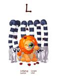 ♥ ABC  letter L. Classroom Poster Alphabet - Animals. Engl