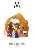 ♥ ABC  letter M. Classroom Poster Alphabet - Animals. Engl