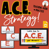 *ACE Writing Strategy* DIGITAL GOOGLE SLIDES teaching guid