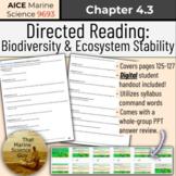 [ACIE Marine ] Directed Reading 4.3: Biodiversity & Ecosys