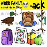 """""""ACK"""" Word Family Clip Art"""