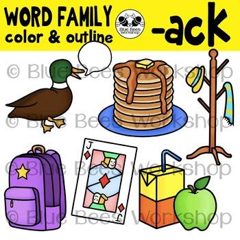 ack word family clip art by blue bees workshop tpt. Black Bedroom Furniture Sets. Home Design Ideas