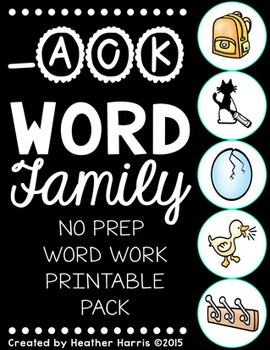 -ACK Word Family Print and Go