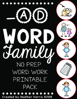 -AD Word Family Print and Go