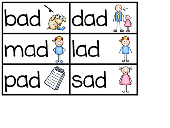 -AD Word Family Sentence Building