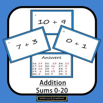 Editable Math Facts Addition Fluency