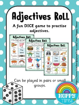 ADJECTIVES ROLL Grammar Dice Game Activity