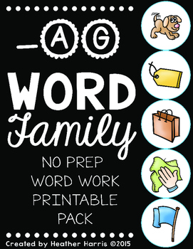 -AG Word Family Print and Go