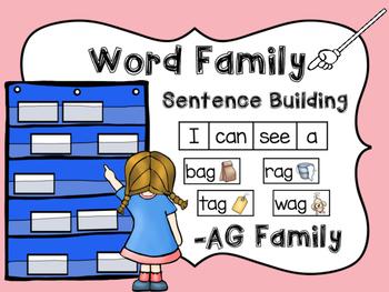 -AG Word Family Sentence Building