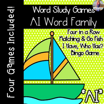 Long A: AI Vowel Team [[Word Family GAMES!]]