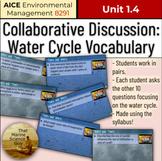 [AICE Environmental] 1.4 Water Cycle Collaborative Pairs V