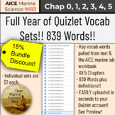 [AICE Marine AS] Full year Quizlet Vocabulary, Easy Upload, 839 words - Bundle