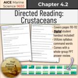 [AICE Marine] Directed Reading 4.2: Crustaceans w/Digital