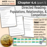 [AICE Marine] Directed Reading 4.4 (part 1): Populations,