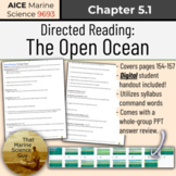 [AICE Marine] Directed Reading 5.1: The Open Ocean, w/Digi