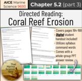 [AICE Marine] Directed Reading 5.2 (part 3): Reef Erosion
