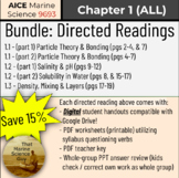 [AICE Marine Science] All Chapter 1 Directed Readings Bundle