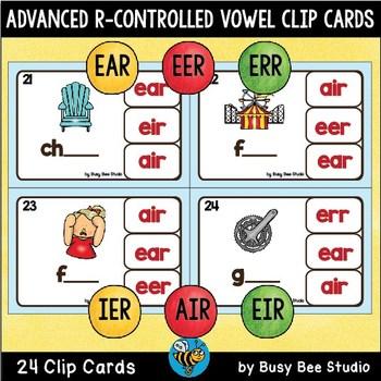 AIR, ERR, IER, EER, EIR, EAR Clip Cards