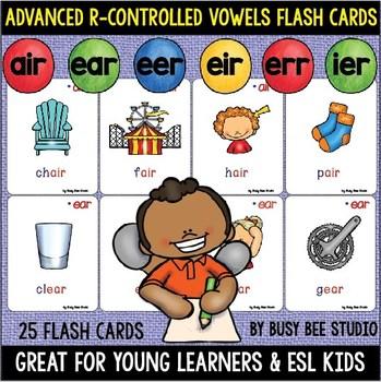 Bossy R: AIR, ERR, IER, EER, EIR, EAR Flash Cards