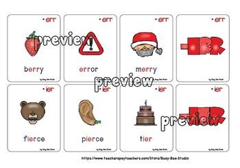 R-Controlled Vowel Flash Cards: AIR, ERR, IER, EER, EIR, EAR