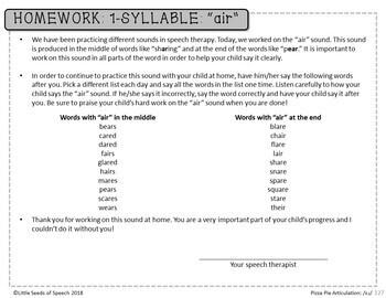 """AIR"" Pizza Articulation Cards for Single & Multisyllabic Words & Sentences"