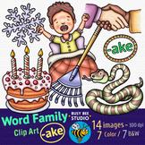"""-AKE"" Word Family Clip Art   Magic E Clipart"