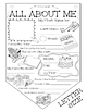 ALL ABOUT ME! Amazing Coloring Pennant!