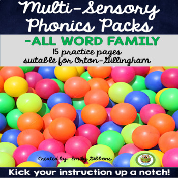 -ALL Word Family Activities Multisensory Phonics Practice Orton-Gillingham