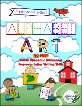**ALPHABET ART** NO PREP!!-from LilyVale Learning