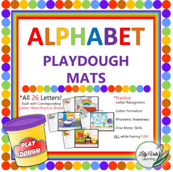 **ALPHABET PLAYDOUGH MATS from LilyVale Learning**