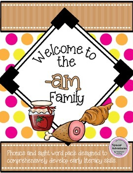 -AM WORD FAMILY PHONICS AND SIGHT WORD WORK EARLY LITERACY