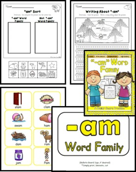 -AM Word Family Practice Printables