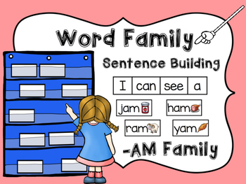 -AM Word Family Sentence Building