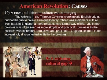 * AMERICAN REVOLUTION!!! PART 1: CAUSES - VISUAL, TEXTUAL, ENGAGING