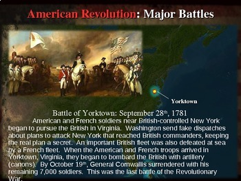 * AMERICAN REVOLUTION!!! PART 3 MAJOR BATTLES - VISUAL, TEXTUAL, ENGAGING