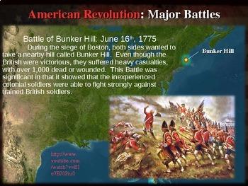 * AMERICAN REVOLUTION!!! PART 3 MAJOR BATTLES - VISUAL, TEXTUAL, ENGAGING