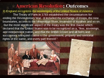 * AMERICAN REVOLUTION!!! PART 4 OUTCOMES - VISUAL, TEXTUAL, ENGAGING