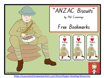 """""""ANZAC Biscuits""""  Free bookmarks"""