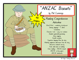 """ANZAC Biscuits"" - HOT reading comprehension activities"