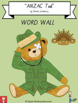 """ANZAC Ted"" Word Wall"