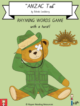 """""""ANZAC Ted"""" rhyming words game with a twist"""
