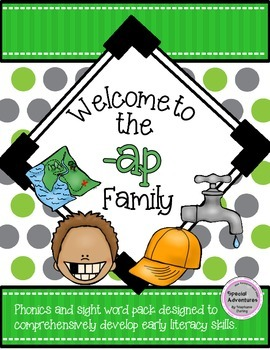 -AP WORD FAMILY PHONICS AND SIGHT WORD WORK EARLY LITERACY