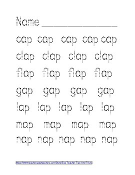 -AP Word Family Tracing