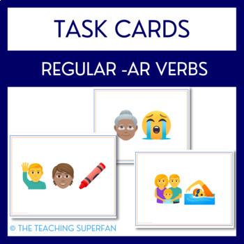 Spanish Verb Conjugation Task Cards for Regular AR Verbs