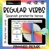 -AR -ER -IR Spanish preterite verb conjugation Boom Cards™ (distance learning)