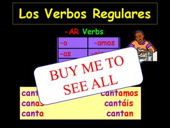 -AR, -ER, IR VERBS Spanish 1 and 2