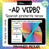 -AR Spanish preterite verb conjugation Boom Cards™ (distance learning)